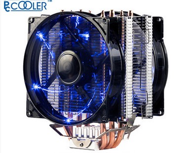 PcCooler S129 X4 CPU radiator cooling fan 12cm fan 4pin PWM for Intel LGA775 1150 1151 1155 1156 2011 for AMD AM3+ FM1 FM2 dual fan 2 heatpipe cpu cooler cooling for lga1151 775 1150 1155 radiator 8cm cpu fan pccooler s80ex