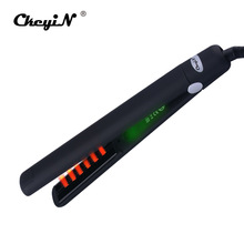 Buy online CkeyiN 100-240V MCH Fast  Heating Professional Infrared Straightening Iron 3D Floating Plate Hair Anion Flat Iron  LED Display