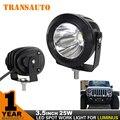 TRANSAUTO Одна часть 3.5 Дюймов 25 Вт противотуманки, светодиодные автомобиля свет пятна света лампы для автомобилей и мотоциклов против 18 Вт/27 Вт