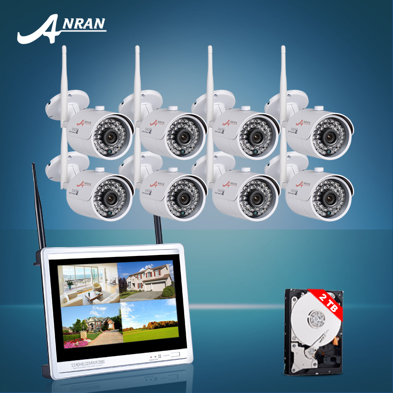 Anran Plug and Play HD 8CH NVR 720P Wireless CCTV System Outdoor Night Vision Security Camera Home WIFI Vdeio Surveillance Kit