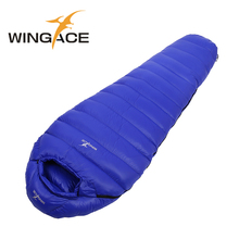 WINGACE Fill 3000G adult winter sleeping bag goose down outdoor Camping Travel Hiking mummy Sleep Bag saco de dormir