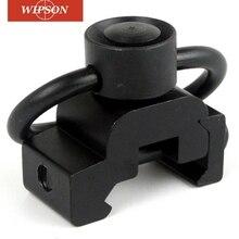 WIPSON Алюминиевый адаптер набор 20 мм рельсовое крепление база быстро отсоединяется 1-1/4 Кнопка Слинг поворотный Пикатинни соединительное кольцо для слинга
