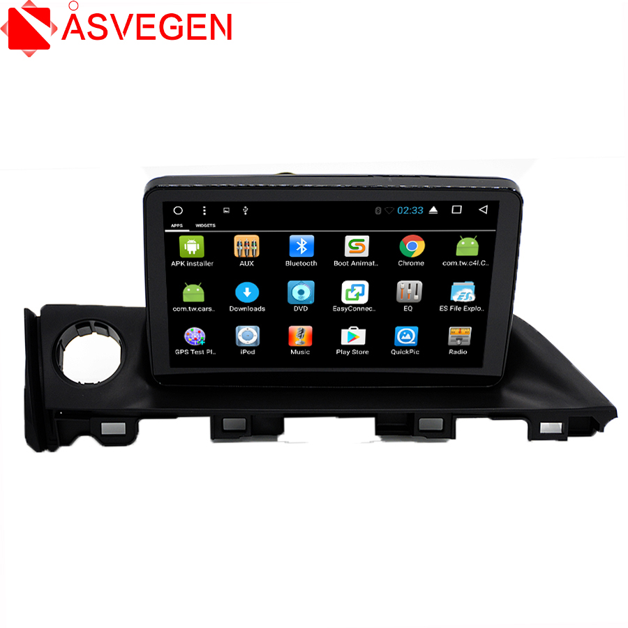 Asvegen 9'' Quad Core Android 7.1 Car GPS Navigation HD Touch Screen Bluetooth Multimedia Audio Player For Mazda Atenza 6 2017