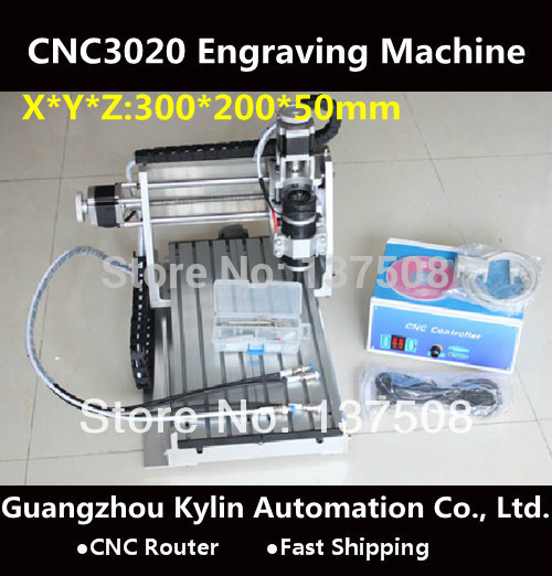 Hot Sale! Mini CNC router 3020 engraving machine, 240w spindle motor CNC 3020 engraving drilling and milling machine cnc 3020 mini desktop engraving machine 2030 drilling