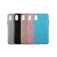 New Case 5 Color Simple Fashion Beautiful Flash Powder Shiny Soft Protective Back Cover For Apple