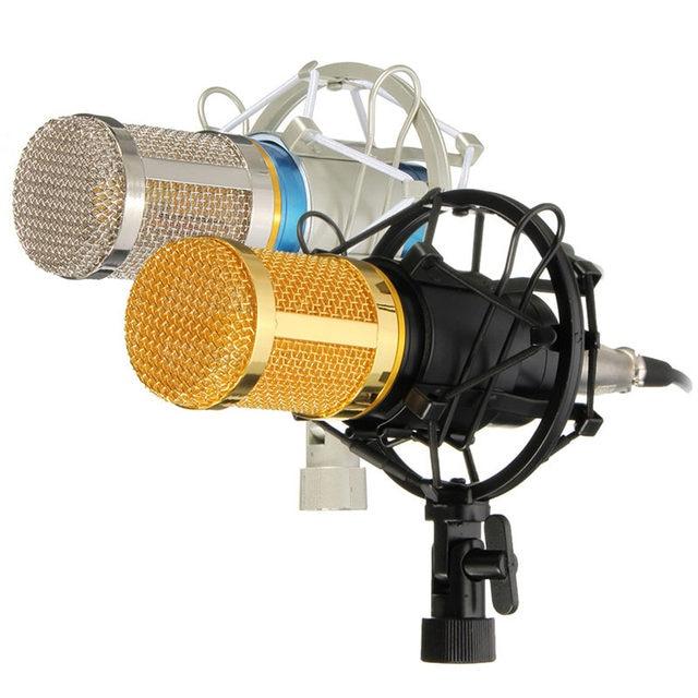 Профессиональный конденсаторный микрофон микрофон студия звукозаписи динамический запись BM800 два цвета