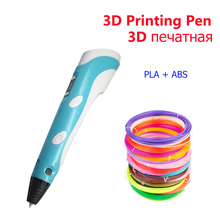 3D printing pen plastic PLA 1.75mm Smart drawing pens with Filament LED 10M plastic for Child gift