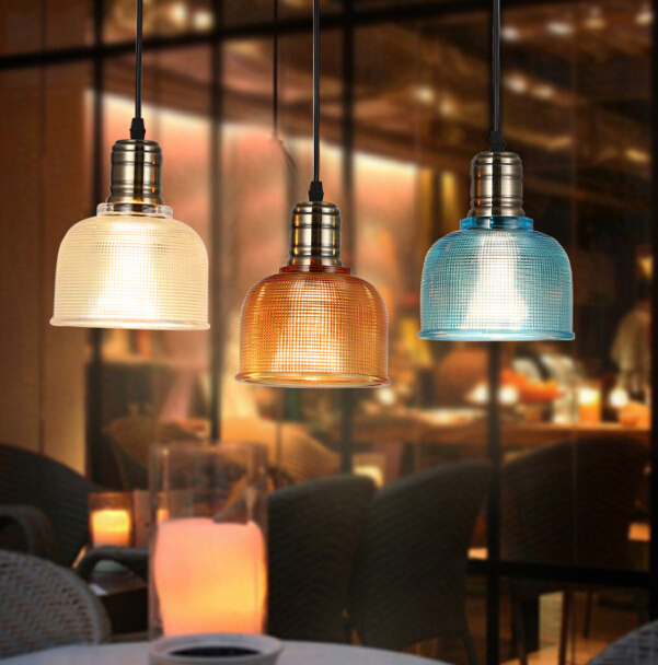 Simple Modern Creative Personality Bar Decorative Chandelier Restaurant Cafe Colored Glass Chandelier Free Shipping creative chandelier cafe bar bar restaurant lounge ktv single headed personality retro bottle decorative lamps