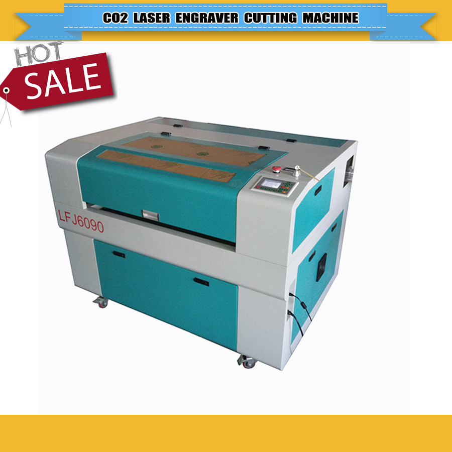 Cheap Price 130W Reci CO2 Laser Engraver Machine 6090 Ruida System With 600*900mm Motorized Up And Down Working Table