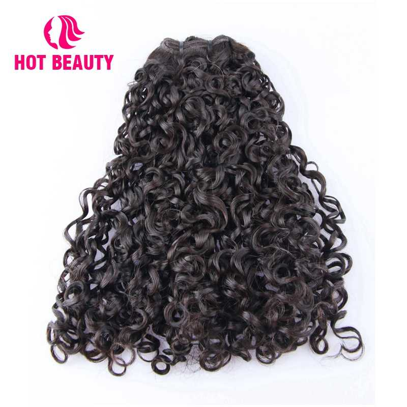 Hot Beauty Hair Brazilian Virgin Hair Extension Funmi Kinky Curly 100% Human Hair Bundles 8-20 Inch Natural Color Weave Bundles