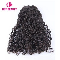 Hot Beauty Hair Brazilian Virgin Hair Extension Funmi Kinky Curly 100% Human Hair Bundles 8 20 Inch Natural Color Weave Bundles