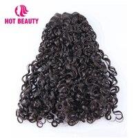 Hot Beauty Hair Brazilian Virgin Hair Extension Funmi Kinky Curly 100% Human Hair Bundles 8 20 Inch Natural Color Weave Bundles