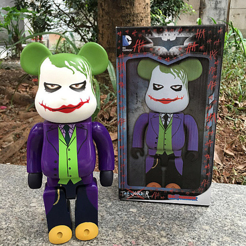 The Joker Bearbrick Action Figure 400% Bearbrick Cos The Joker Doll PVC figure Toy Brinquedos Anime 28CM DE201 high quality oversize 52cm bearbrick be rbrick matt diy pvc action figure toys bearbrick blocks vinyl doll 3 color optional