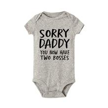 Sorry Daddy you now have two Boys детские комбинезоны с печатью летняя одежда для малышей комбинезон для новорожденных мальчиков и девочек