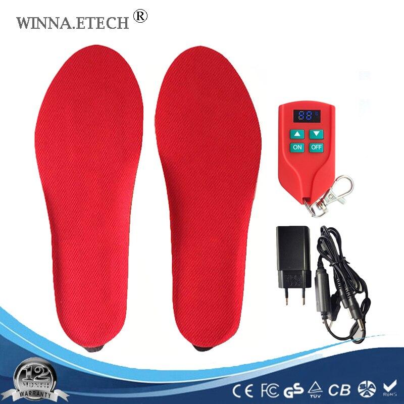 Новые USB электронные нагревательные стельки для обуви мужские и женские ботинки тип батареи питание лыжные стельки размер EUR 35-46 #2000 мАч черн...