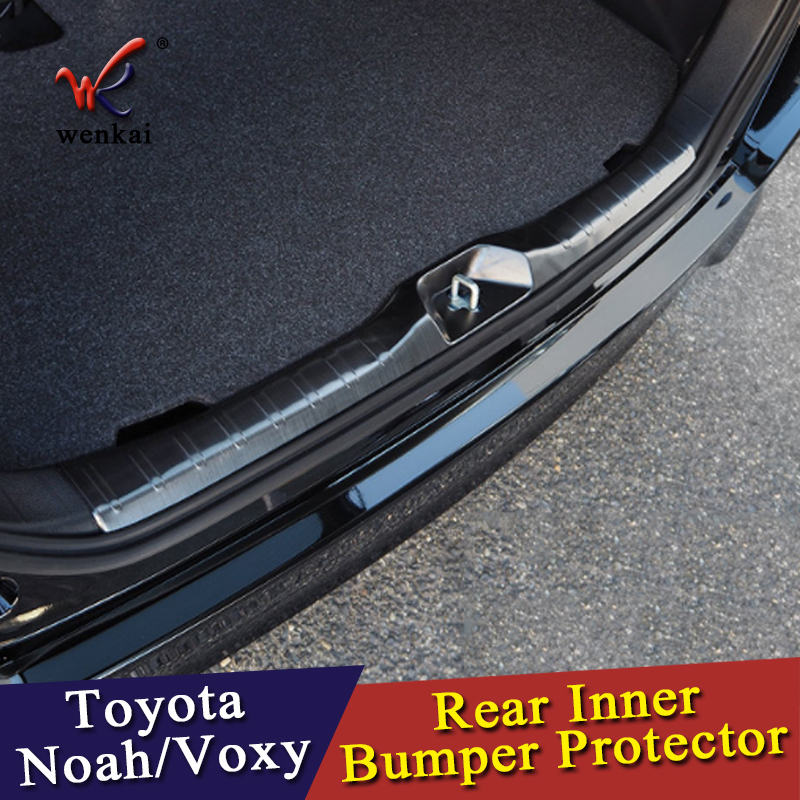 For Toyota Voxy Noah 80 Series Rear Trunk Deck Bumper Protector Panel Boot Cover Stainless Steel Trim Door Sill Car styling