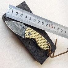 karambit small knife damascus steel shape foldable outdoor survival self-defense pocket knife alloy handle Multifunction