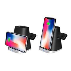 Image 3 - 3 Trong 1 Tề Đế Sạc Không Dây Dành Cho AirPods Đồng Hồ Apple IPhone 8 Plus X XR XS Samsung S9 S8 s10 Không Dây Đế Sạc