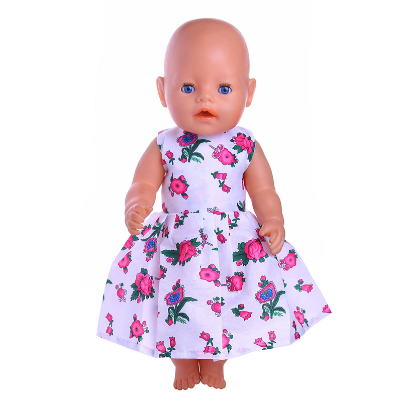 Doll Clothes flower dress Fit 18 Inch American Girl Doll &43cm New Baby Born Zapf Clothes american girl doll clothes superman and spider man cosplay costume doll clothes for 18 inch dolls baby doll accessories d 3