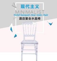 Cadeira de casamento transparente cadeira de cristal