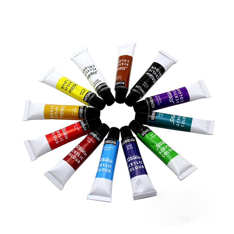12 colors professional acrylic paints set 2017 new hand for Acrylic mural paint supplies