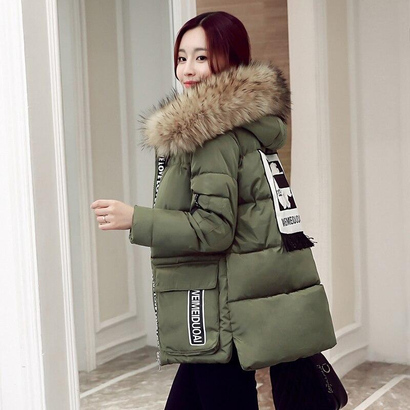 army La Manteau De xxxxxl Col Parkas Fourrure rouge Taille Plus Chaud M Grand Épais 2018 Femelle Veste Noir Femmes Green D'hiver Nouvelle Coton Outwear w6qIPn1AT