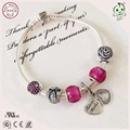 Top Quality Fashionable Red Silver Love Mother Charm Series 925 Sterling Silver Bracelet