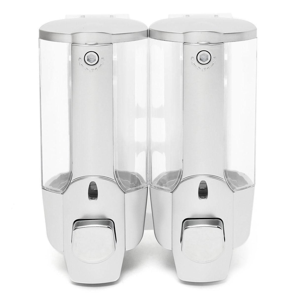 350ml2 Bathroom Double Handle Soap Dispenser Wall Mounted Liquid Soap Dispenser Home Shampoo