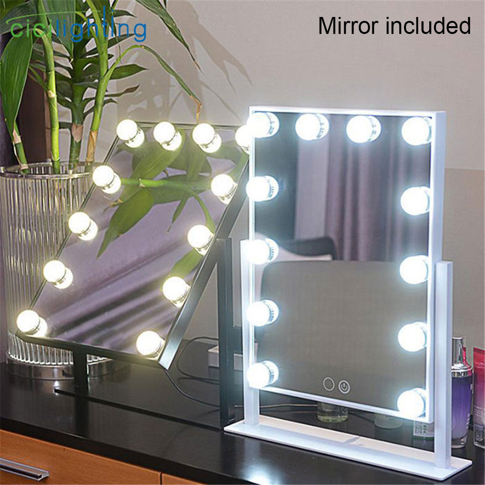 Mirror included, Makeup Mirror light With 9  12 15 LED Bulbs Light, Touch Screen Beauty Cosmetic Adjustable vanity desk lights Mirror included, Makeup Mirror light With 9  12 15 LED Bulbs Light, Touch Screen Beauty Cosmetic Adjustable vanity desk lights
