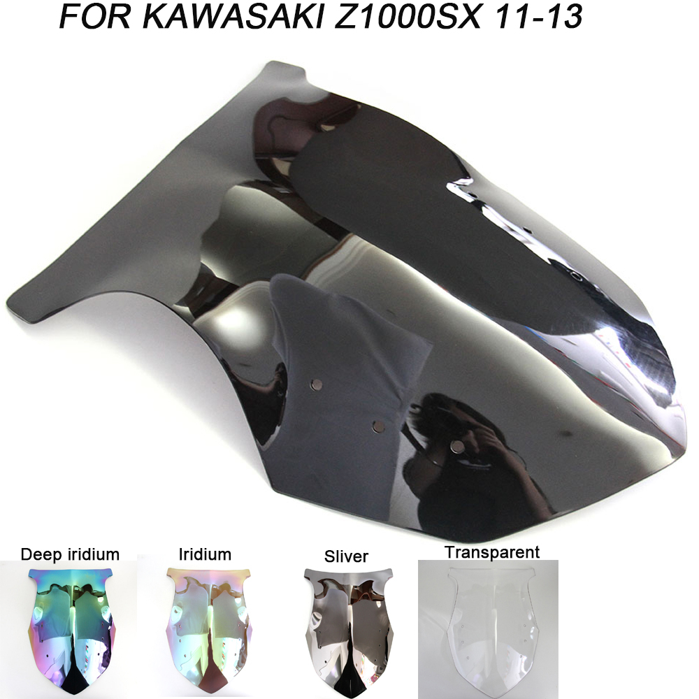 Black Motorcycle Motorbike Windshield For Kawasaki NINJA 1000 SX Z1000SX Z1000-SX 2011-2013 Windscreen Wind Deflectors Air Flow