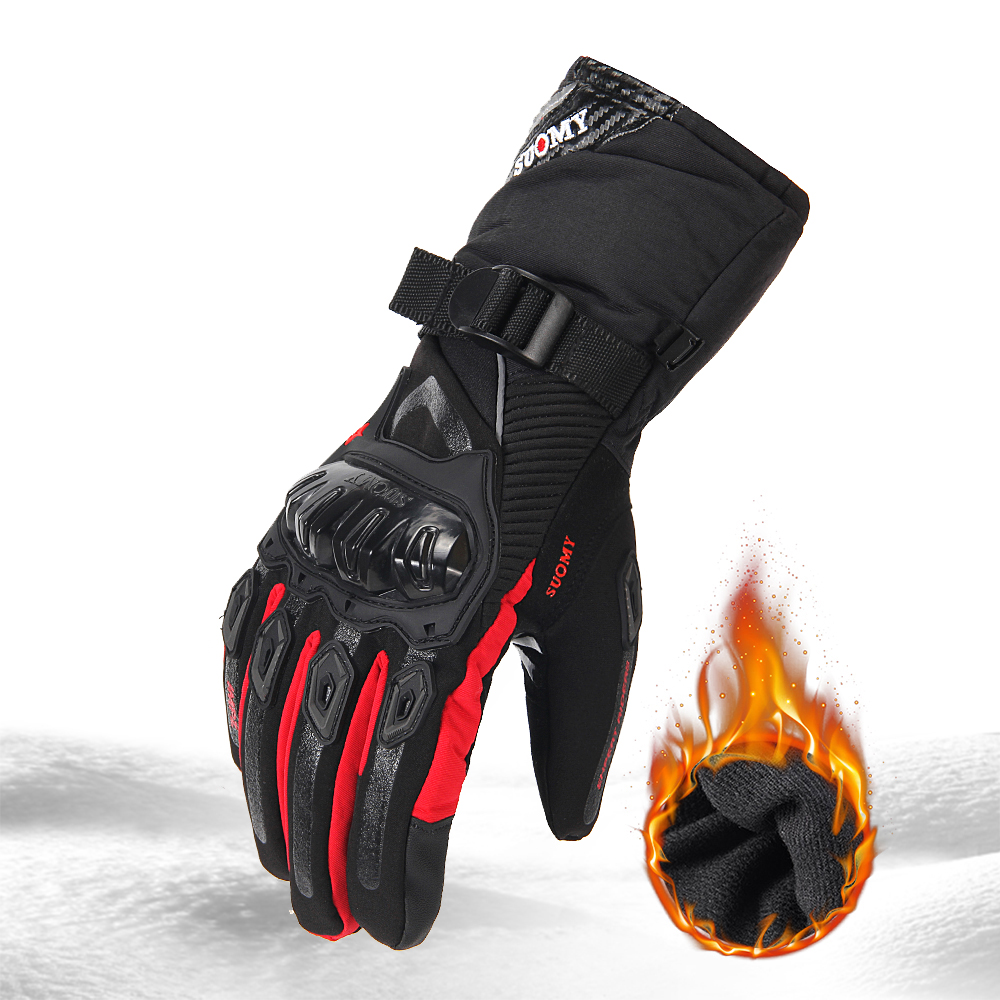 Gants de Moto SUOMY hommes 100% imperméable coupe-vent hiver Gant Moto gants écran tactile Guantes Moto gants d'équitation