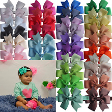 3.5'' Pinwheel Hair Bow with Elastic Headbands Children Hairbow Headband Kids Hair Accessories Hair bands Dovetail bows 40pcs