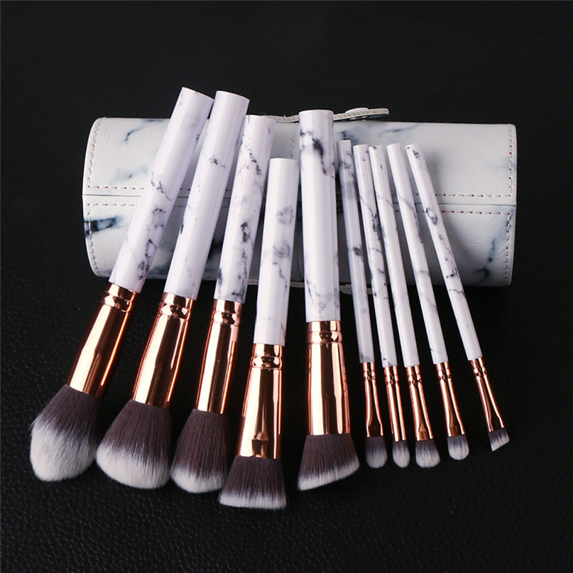 2017 New Arrival Women 10Pcs Multifunctional Makeup Brush Concealer Eyeshadow Brushes Set Professional Makeup Tool 8.18