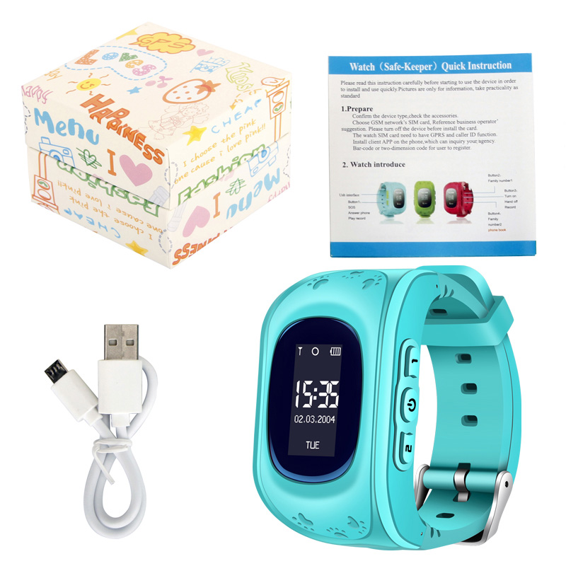 US $18 98 30% OFF Children Smart Watch Kids Watches with SIM card GPS  Russian Smartwatch Baby Watch for Call Finder Locator Real time  Monitor+Box-in