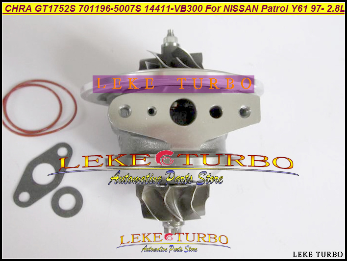 Turbo Cartridge CHRA GT1752S 701196-5007S 14411-VB300 14411-VB301 701196 14411VB300 14411VB301 For NISSAN Patrol Y61 1997- 2.8L nissan patrol y61 с 1997 бензин пособие по ремонту и эксплуатации 5 94023 049 0