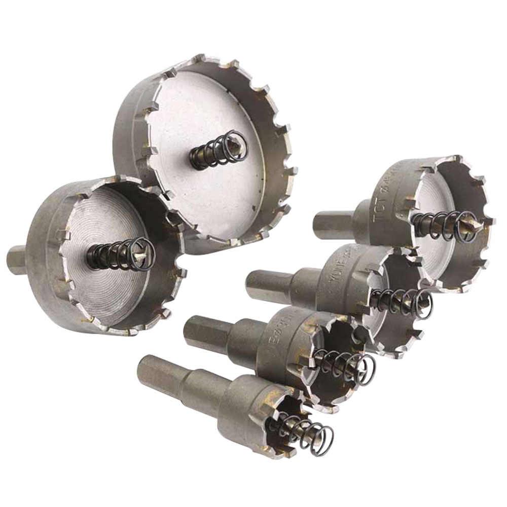 6 PC Carbide Đầu TCT Mũi Khoan Lỗ Cưa 22-65 Mm Bộ Mũi Khoan Lỗ Cưa Cắt Cho đồng Hồ Nam Dây Thép Không Gỉ Kim Loại Hợp Kim Khoan Bộ