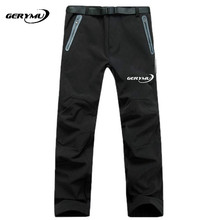 Men Outdoor Hiking Softshell Pants Waterproof Windstopper Fleece Warm Breathable Hunting Climbing Camping Snowboard