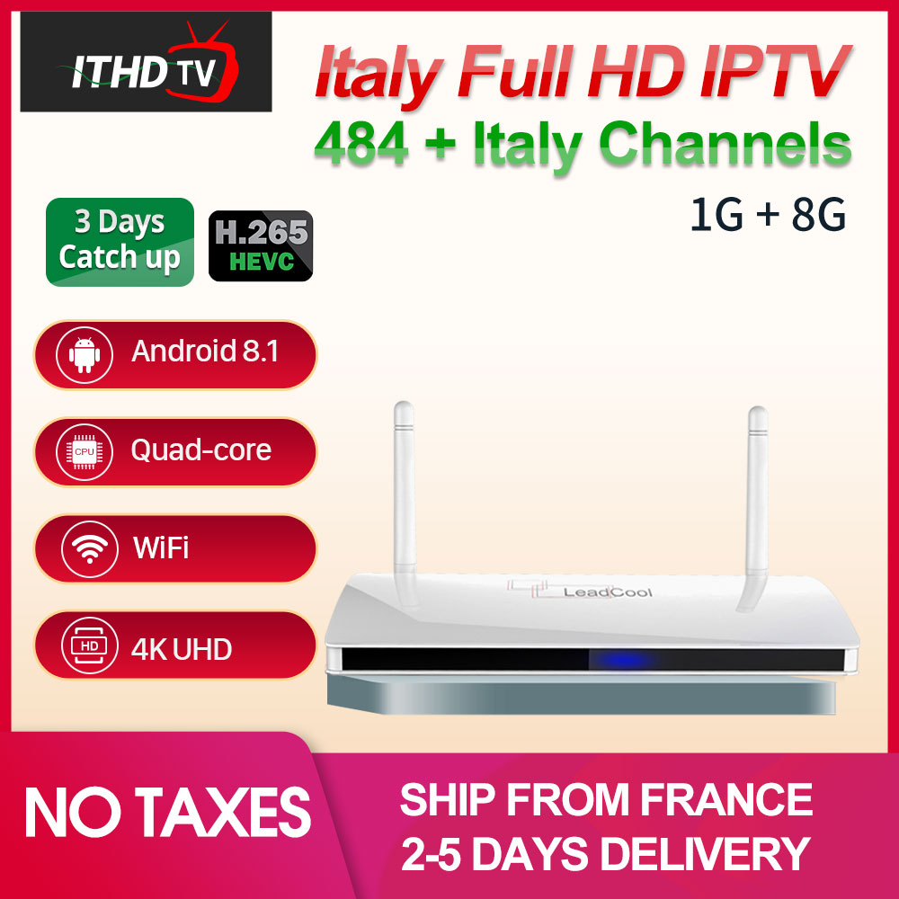Leadcool Italy France 1 Year IPTV Code IP TV Italian Portugal IPTV Subscription Spain Turkey IPTV Arabic Italy IP TV Germany UAE-in Set-top Boxes from Consumer Electronics