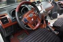 цена на Accessories For Toyota Land Cruiser 150 Prado LC150 FJ150 2010-2017 Interior Wooden Color Trim Panel Overlay 30pcs Car Styling