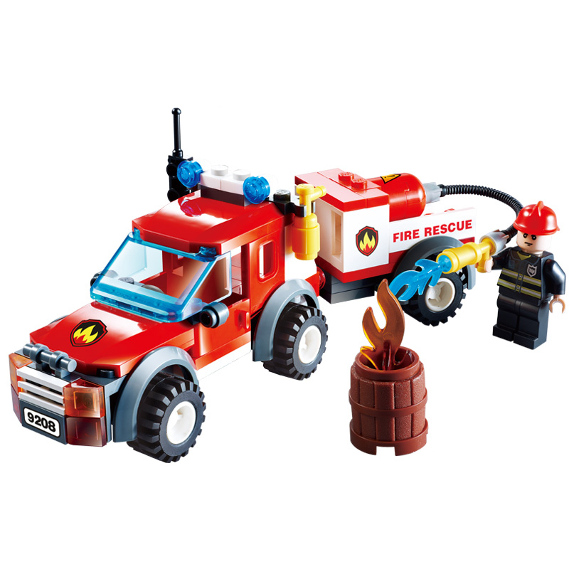 Free Shipping 2017 Fire Fighting Series Building Blocks Truck Compatible Education Enlighten DIY Toys Gift for Children 9208 solar electronic building blocks children s electrical science and education diy toys christmas gift