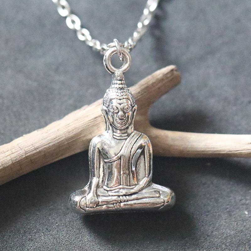 Buddha Yoga Fertility Goddess Pendant Necklace For Women Vintage Bijoux Female Choker Necklaces Christmas Holiday Gift Buddhism
