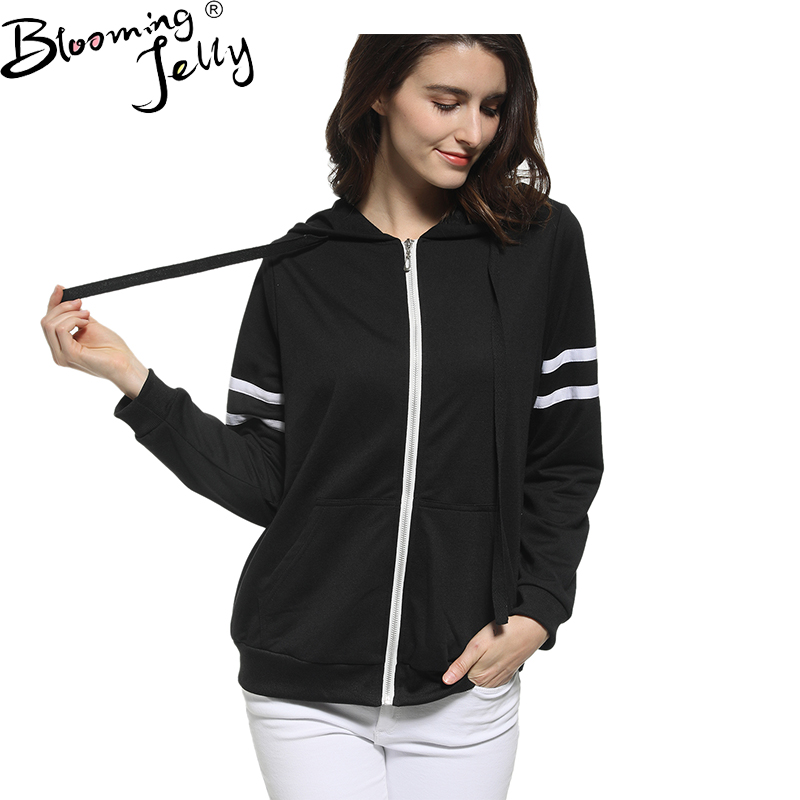 Blooming Jelly Sweatshirts Long Sleeve Loose Zip-up Hoodies Fashion Tracksuits Women Hoodie Spring Casual Hoody Streetwear
