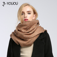 Winter Ladies Scarves Women High Fashion 2017 Red Plaid Scarf Ponchos Capes Crinkle Hijab Warm Cotton