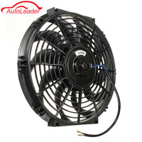Car Universal 12 12V 80W Slim Reversible Electric Radiator Cooling Fan Push Pull Easy Install For