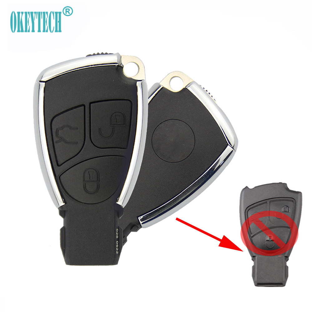 OkeyTech upgrade 3 Button Remote car <font><b>Key</b></font> case for <font><b>Mercedes</b></font> Class Alarm Cover <font><b>w203</b></font> w211 w204 Replacement Car <font><b>Key</b></font> Fob Shell image