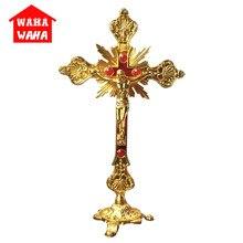 Vertical Baroque Jesus Cross Jesus Kirsite Crucifix Pendant Catholic Holy Christian Emmanuel Christ Jesu Cross Iesus Figures