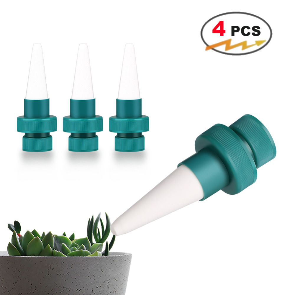 4PCS Garden Automatic Watering Irrigation Kits Plant Flower Water Control Drip Cone Spike Waterer Bottle Irrigation System