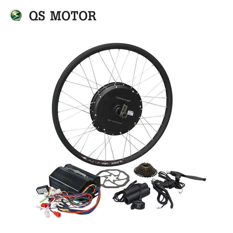New Arrival QS 1000W 135mm 205 35H V1 7speed freewheel Electric Spoke Hub Motor with Conversion Kits