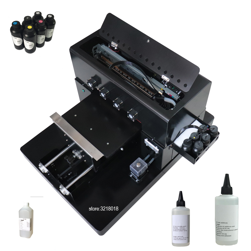 R1390 A3 size LED UV Printer Flatbed Printer 6 Colors For Metal/Plastic Case T-shirts Phone Case and Pen etc with UV lamp dry 6 color a3 size uv printer phone case printer led uv flatbed printing machine r1390 a3 uv printer for phone case acrylic metal