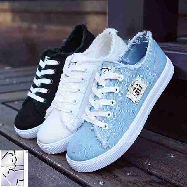 d5c6b0e587190 casual Women shoes 2018 spring flats tassel shoes cross tie loafers comfort female  shoes blue black white canvas shoes rihanna